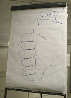 flipchart thumbs up