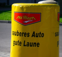 mr wash sauberes Auto, gute Laune