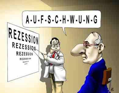 Cartoon Aufschwung