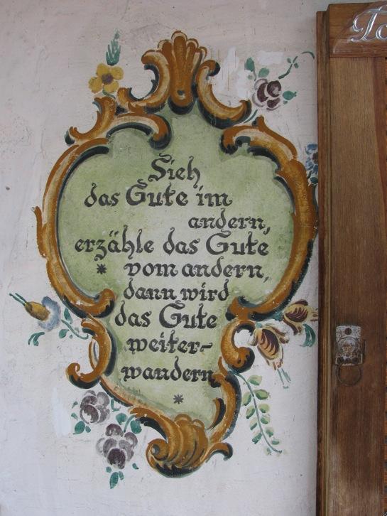 Hausinschrift Das Gute Wandern www.positiverdenken.de